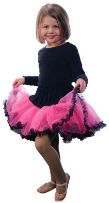 Tutu, Hot Pink/Black, size 2/3