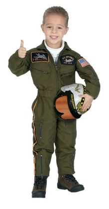 Jr. Armed Forces Pilot Suit w/Helmet, size 2/3