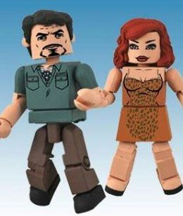 Action Figure Xpress APR101447 Marvel Minimates Iron Man 2 Stark Expo Tony Stark and Natalie Romanova Minimates 2-Pack