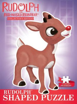 Rudolph The Red Nosed Reindeer Shaped Collector's Puzzle