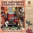 Product Image. Title: Saturday Evening Post Road Block 1000 Piece Puzzle