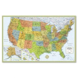 Advantus RM528960911 M-Series Full-Color Laminated United States Wall Map 50 x 32