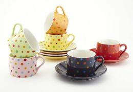 Polka Dot Tea Cup & Saucer Gift Set, 7 oz