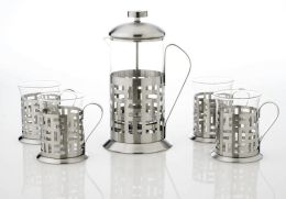 Coffee & Tea Press Gift Set, Stainless Steel