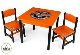 Harley Davidson Table & 2 Chair Set