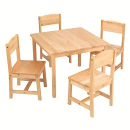 Farmhouse Table and 4 Chairs - Natural