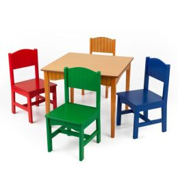 Nantucket Table and 4 Chairs - Primary Colors