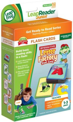LeapFrog LeapReader Junior Interactive Letter Factory Flash Cards (works with Tag Junior)