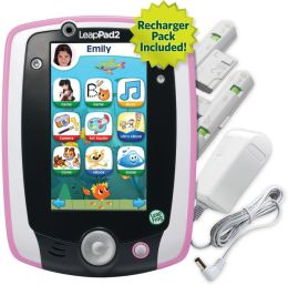 LeapFrog LeapPad2 Power Kids' Learning Tablet, Pink (includes rechargeable battery  $40 value)