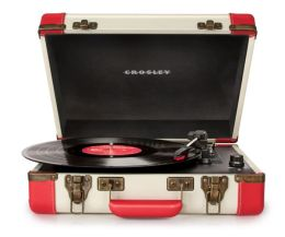 Executive Portable USB Turntable- Red/White