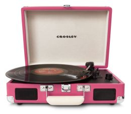 Cruiser Portable Turntable- Pink