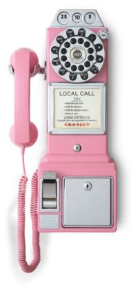 1950's Classic Pay Phone - Pink
