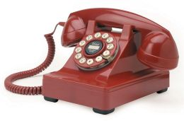 Crosley 302 Desk Phone - Red