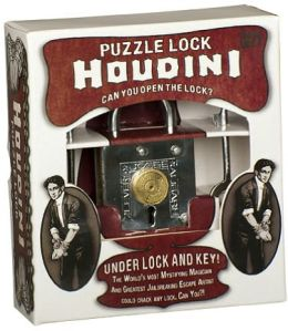 Houdini Lock and Key Brainteaser