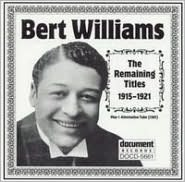 Bert Williams: The Remaining Titles 1915-1921