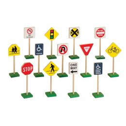 Guidecraft G309 7'' TRAFFIC SIGNS (13/SET)