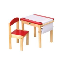 Art Table & Chair Set - Red