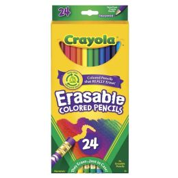 Crayola 24 Count Erasable Colored Pencils