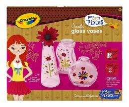 Crayola Pop Art Pixies Tatum Glass Vase Trio