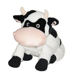 Zoobies BP309 Cookie the Cow- 3 in 1 animal- pillow & blanket
