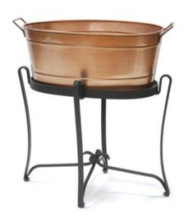 Achla C-81C Copper Plated Oval Tub