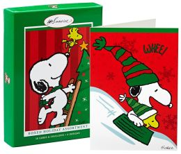Snoopy assortment christmas boxed cards by hallmark barnes amp noble