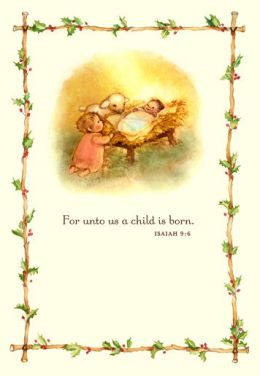 UNTO THIS WORLD Nativity CHRISTMAS BOXED CARD