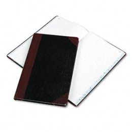 Boorum & Pease 9-150-R Record/Account Book- Black/Red Cover- 150 Pages- 14 1/8 x 8 5/8
