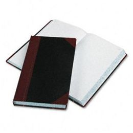 Boorum & Pease 9-500-R Record/Account Book- Record Rule- Black/Red- 500 Pages- 14 1/8 x 8 5/8