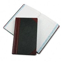 Boorum & Pease 9-500-J Record/Account Book- Journal Rule- Black/Red- 500 Pages- 14 1/8 x 8 5/8