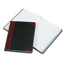 Boorum & Pease 38-300-R Record/Account Book- Record Rule- Black/Red- 300 Pages- 9 5/8 x 7 5/8