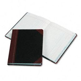 Boorum & Pease 38-300-J Record/Account Book- Journal Rule- Black/Red- 300 Pages- 9 5/8 x 7 5/8