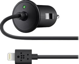 Belkin F8J075btBLK Car Lightning Charger (10 Watt/2.1A)