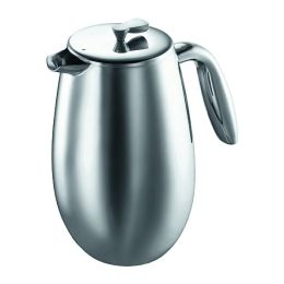 Bodum Columbia French Press Coffee Maker, Double Wall, 8 cup - Stainless Steel
