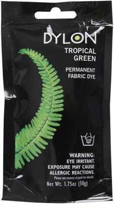 Dylon Permanent Fabric Dye 1.75 Ounce-Tropical Green
