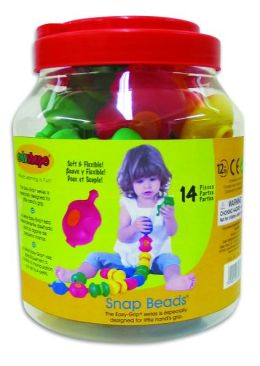 Edushape 14 Piece Sensory Snap Beads