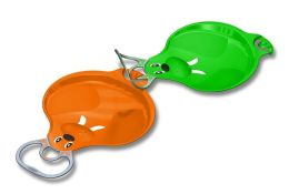 Connectible Sleds (Small) - 2 Pack (Orange / Green)