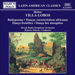 Heitor Villa-Lobos: Rudepoema; Danças características africanas; Dança frenética; Dança dos mosquitos