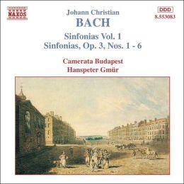 J.C. Bach: Sinfonias, Vol. 1