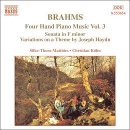 Brahms: Four Hand Piano Music, Vol. 3