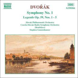 Dvorák: Symphony No. 1; Legends Op. 59, Nos. 1-5