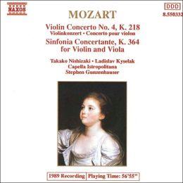 Mozart: Violin Concerto No. 4, Sinfonia concertante