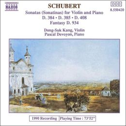 Schubert: Sonatinas for Violin & Piano