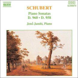 Schubert: Piano Sonatas, D. 960 & D. 958