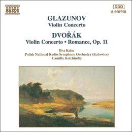 Glazunov: Violin Concerto; Dvorák: Violin Concerto; Romance, Op. 11