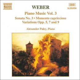 Weber: Piano Music, Vol. 3