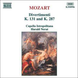 Mozart: Divertimenti, K 131 & K 287