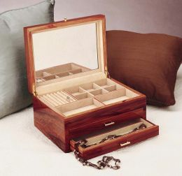 Handcrafted Rosewood Jewelry Chest