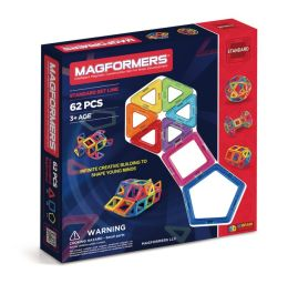Magformers - 62 Piece Magnetic Building Set