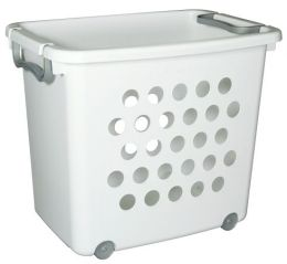 Sterilite Large Ultra Wheeled Stacking Basket 12828006 - Pack of 6